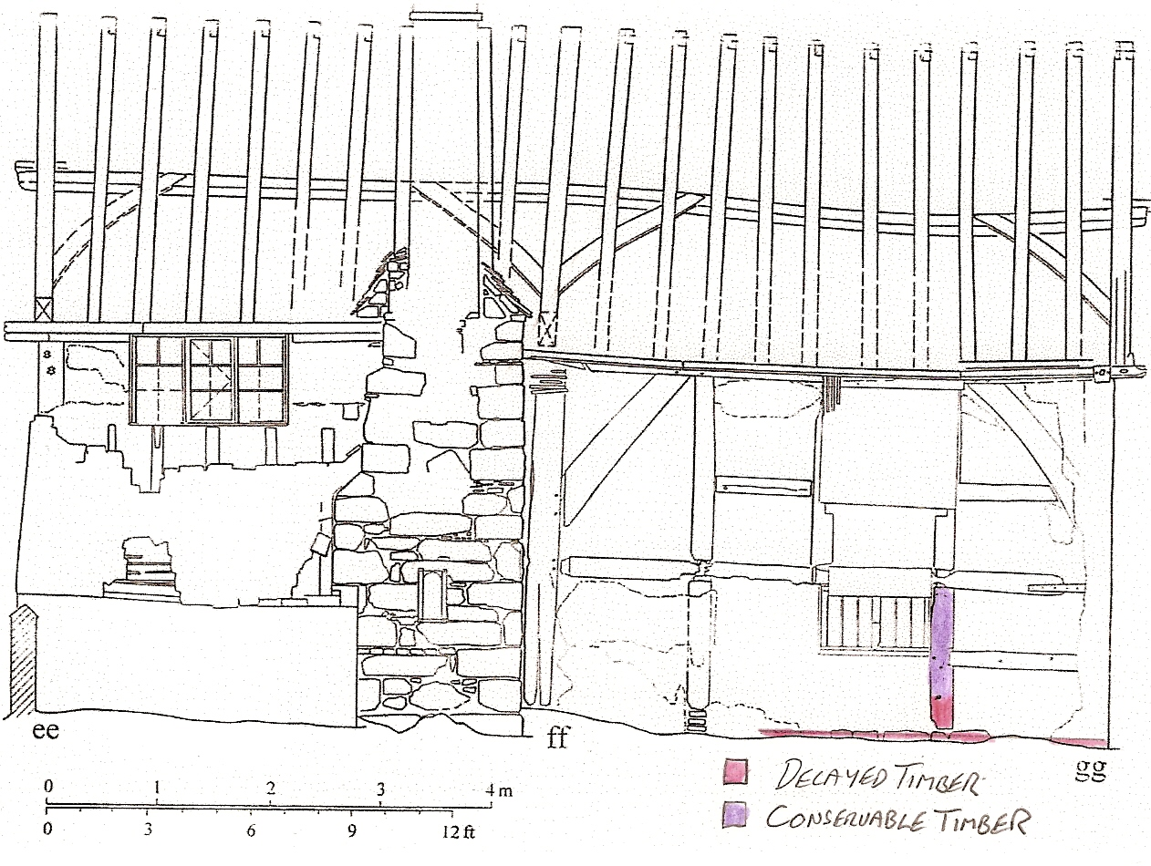 Timber frame elevation